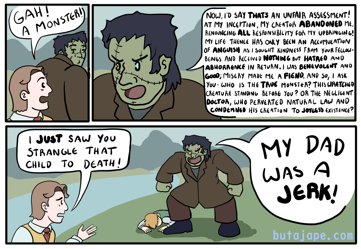 frankenstein's monster comic
