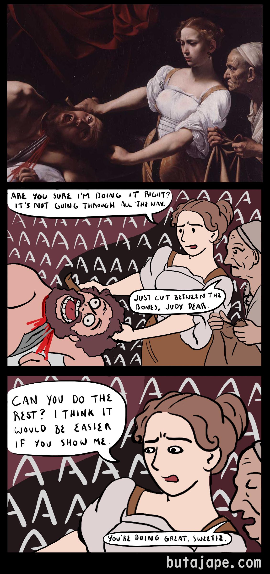 judith beheading holofernes comic