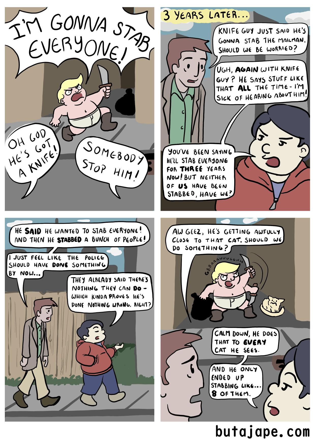 knife guy comic