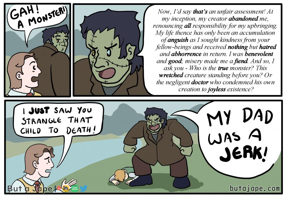 frankenstein's true monster comic