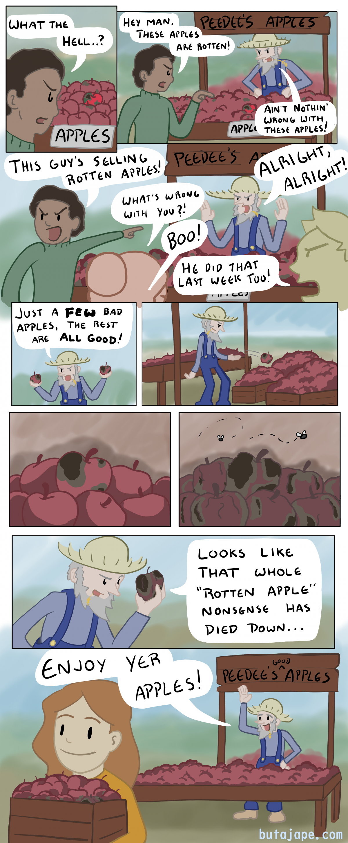 peedee's apples comic