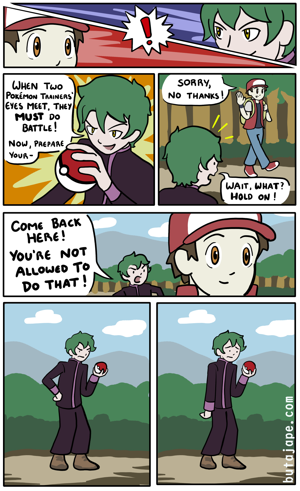 when trainers eyes meet comic