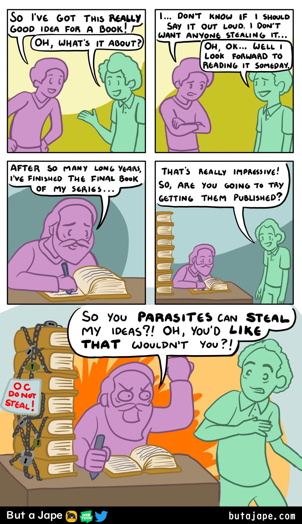 your original idea comic