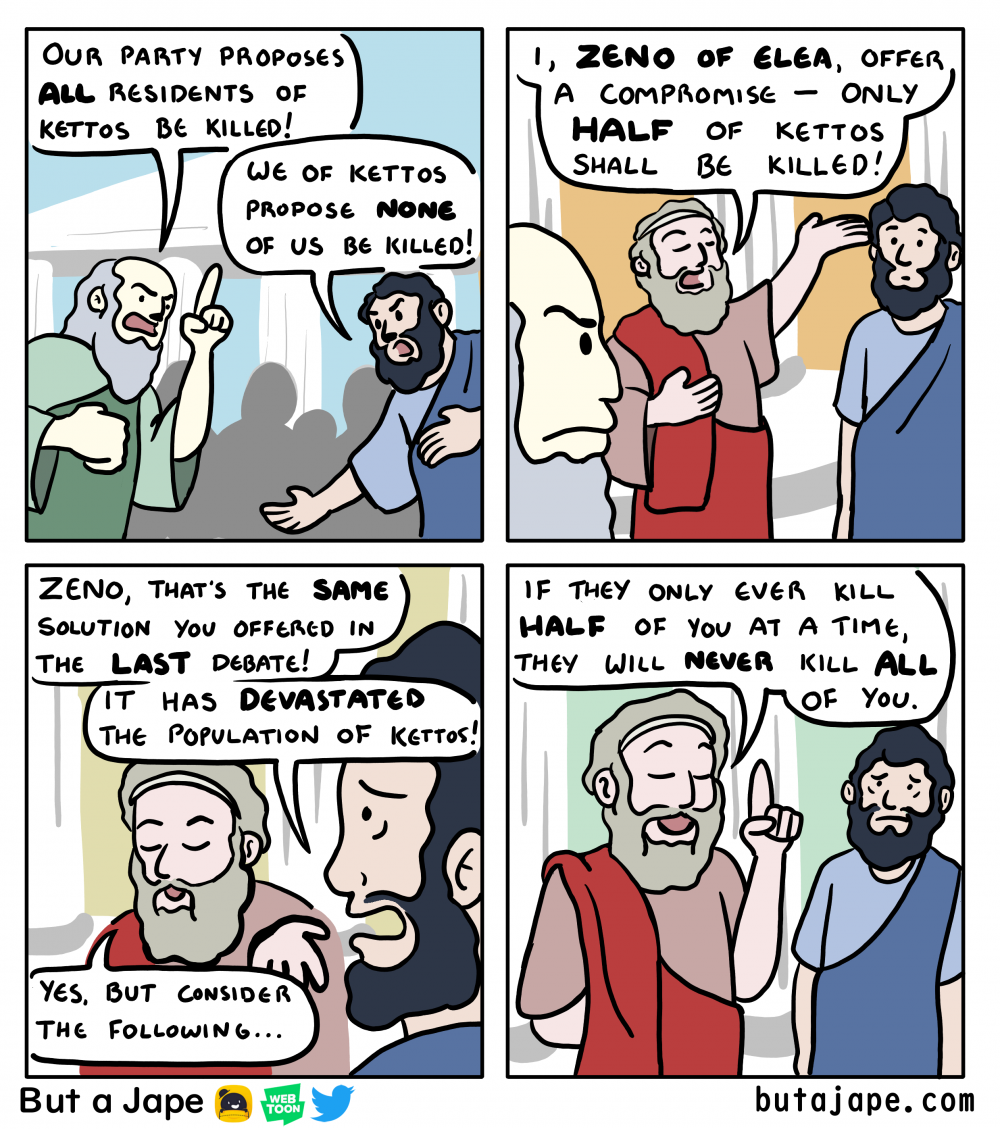 zenos paradox of centrism comic