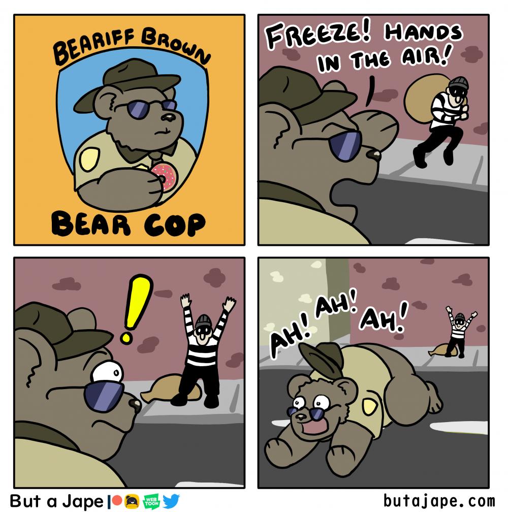 bear cop comic