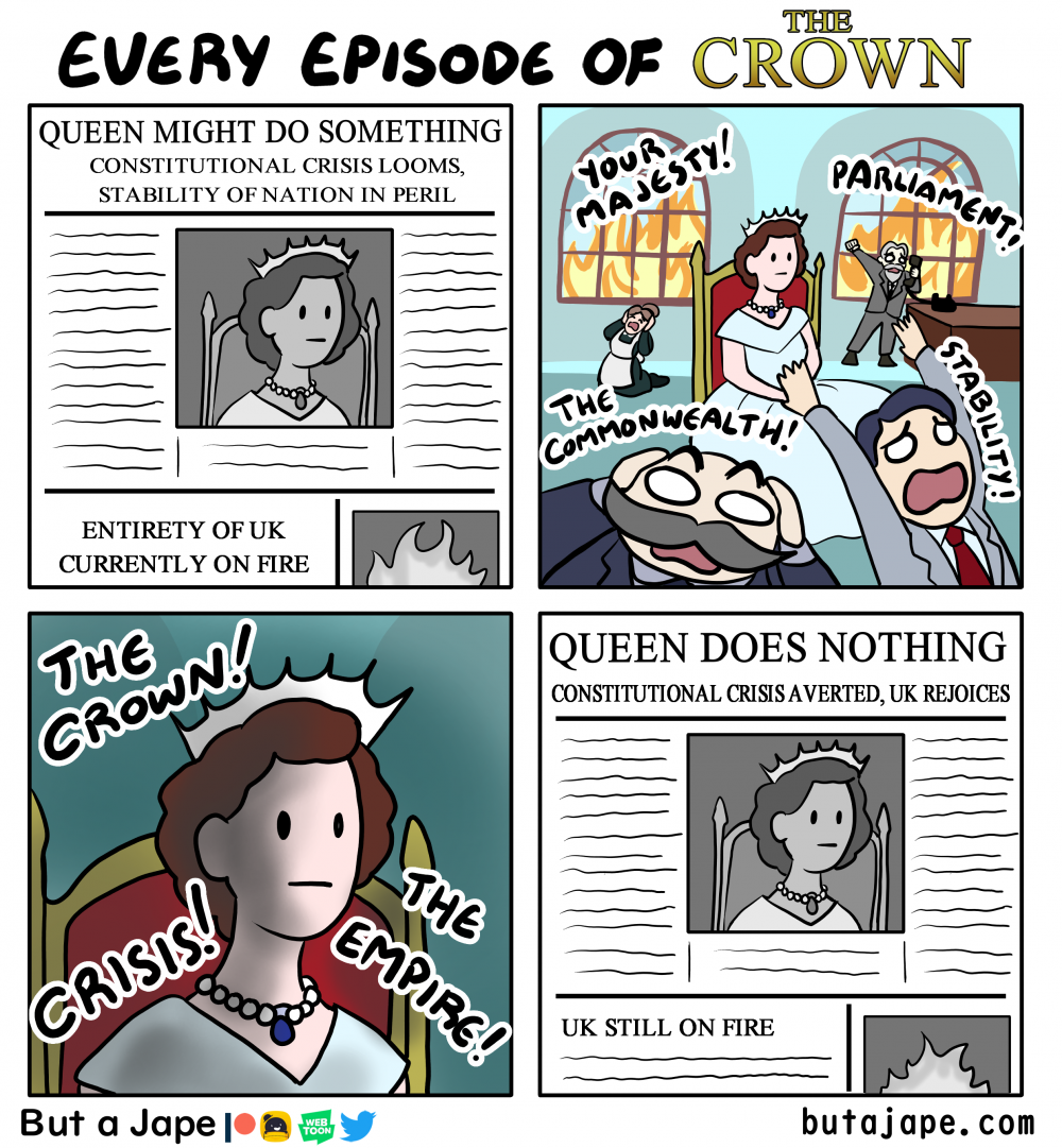 every episode of the crown comic