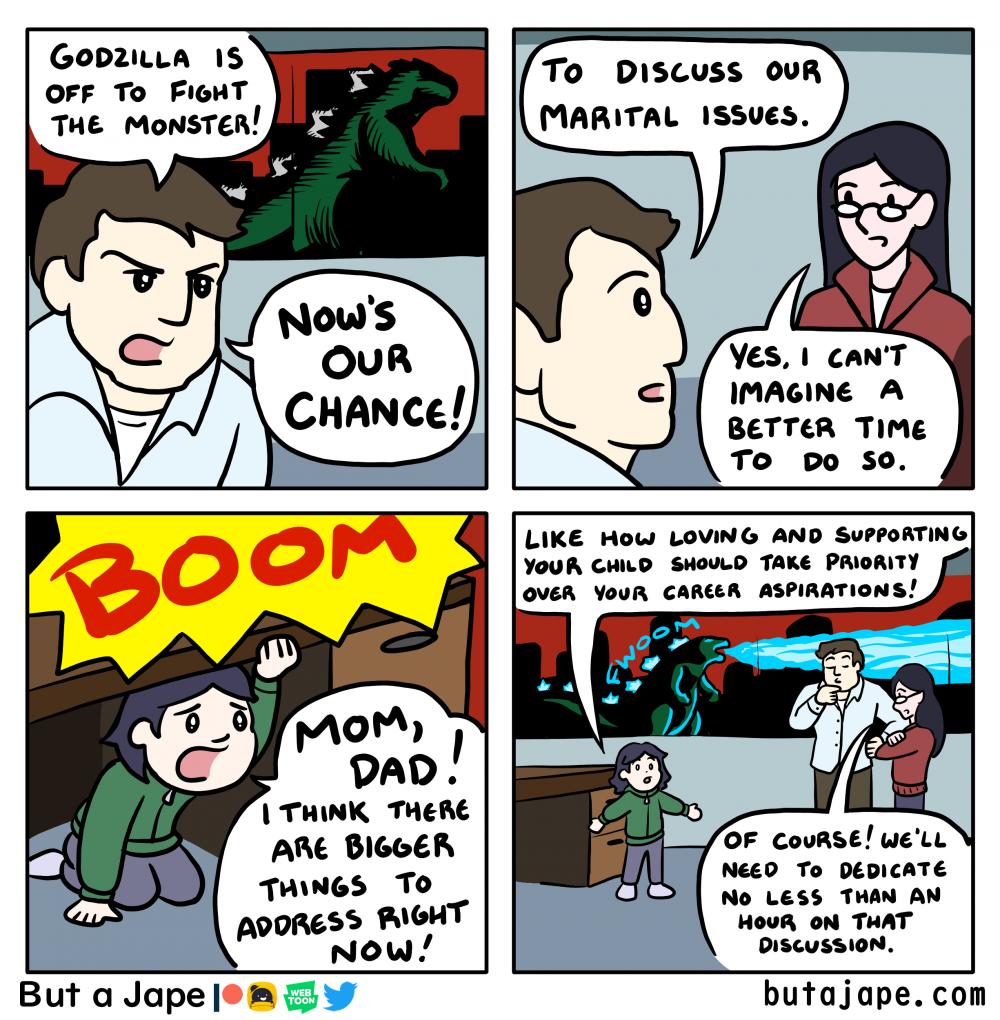 every godzilla film comic