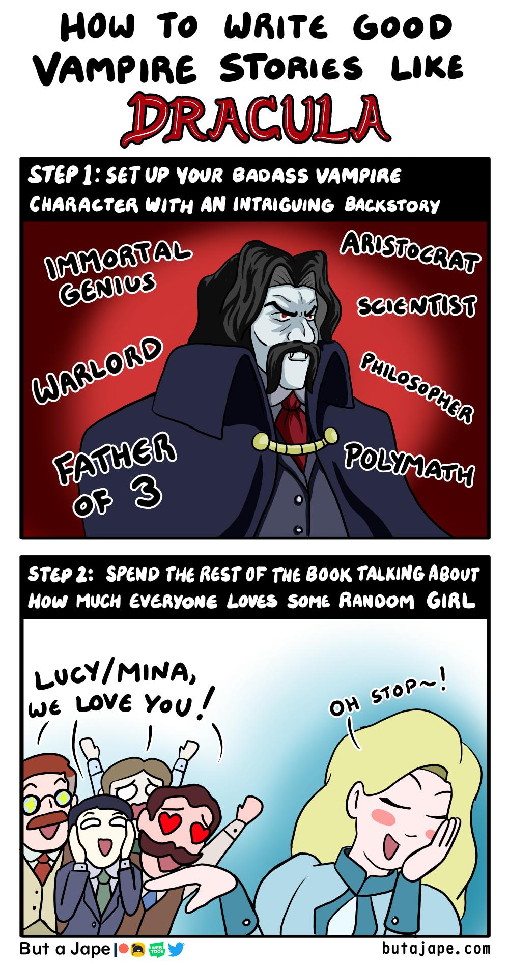 How to Write Vampire Stories comic