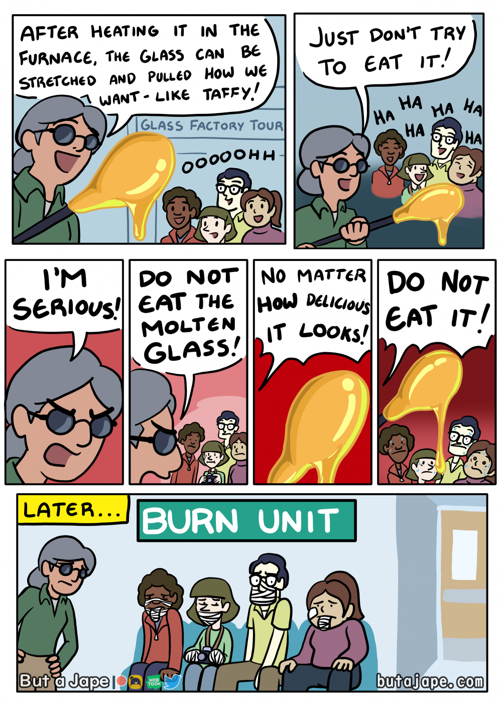 glassmaking comic