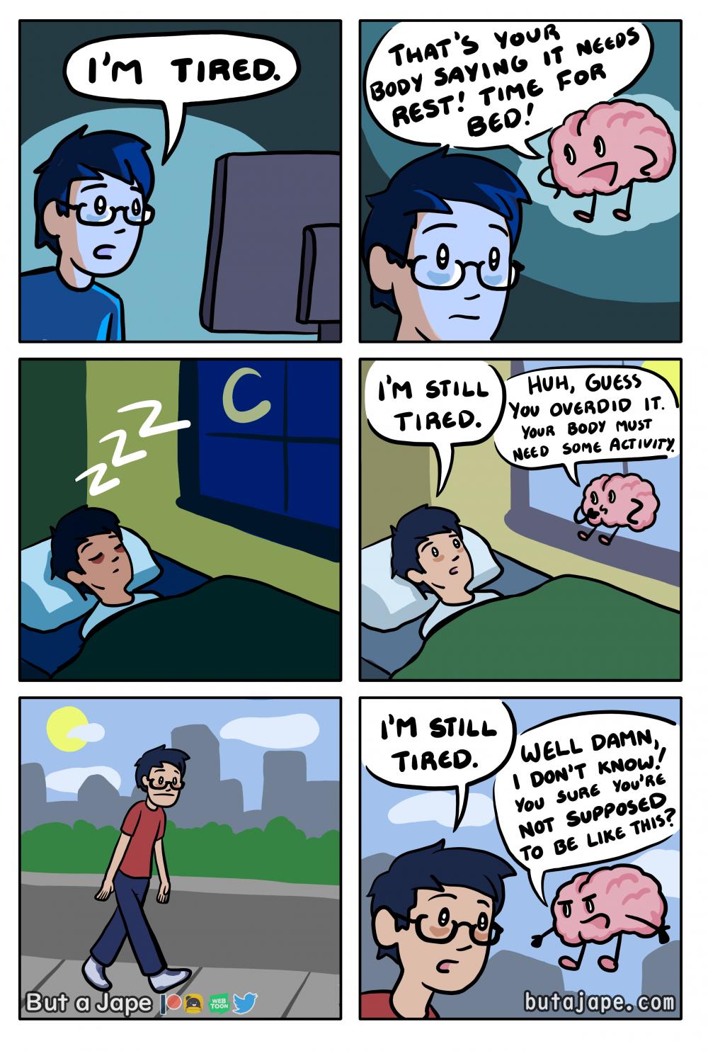 i'm tired comic