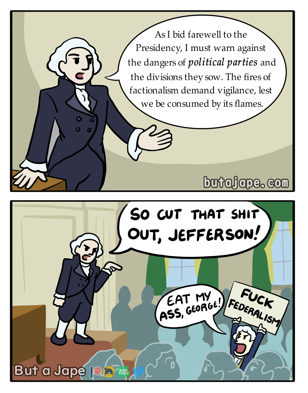 washington's warning comic