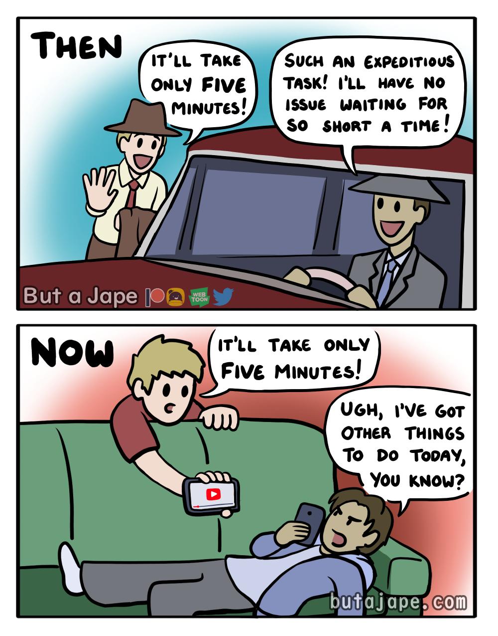 five minutes comics