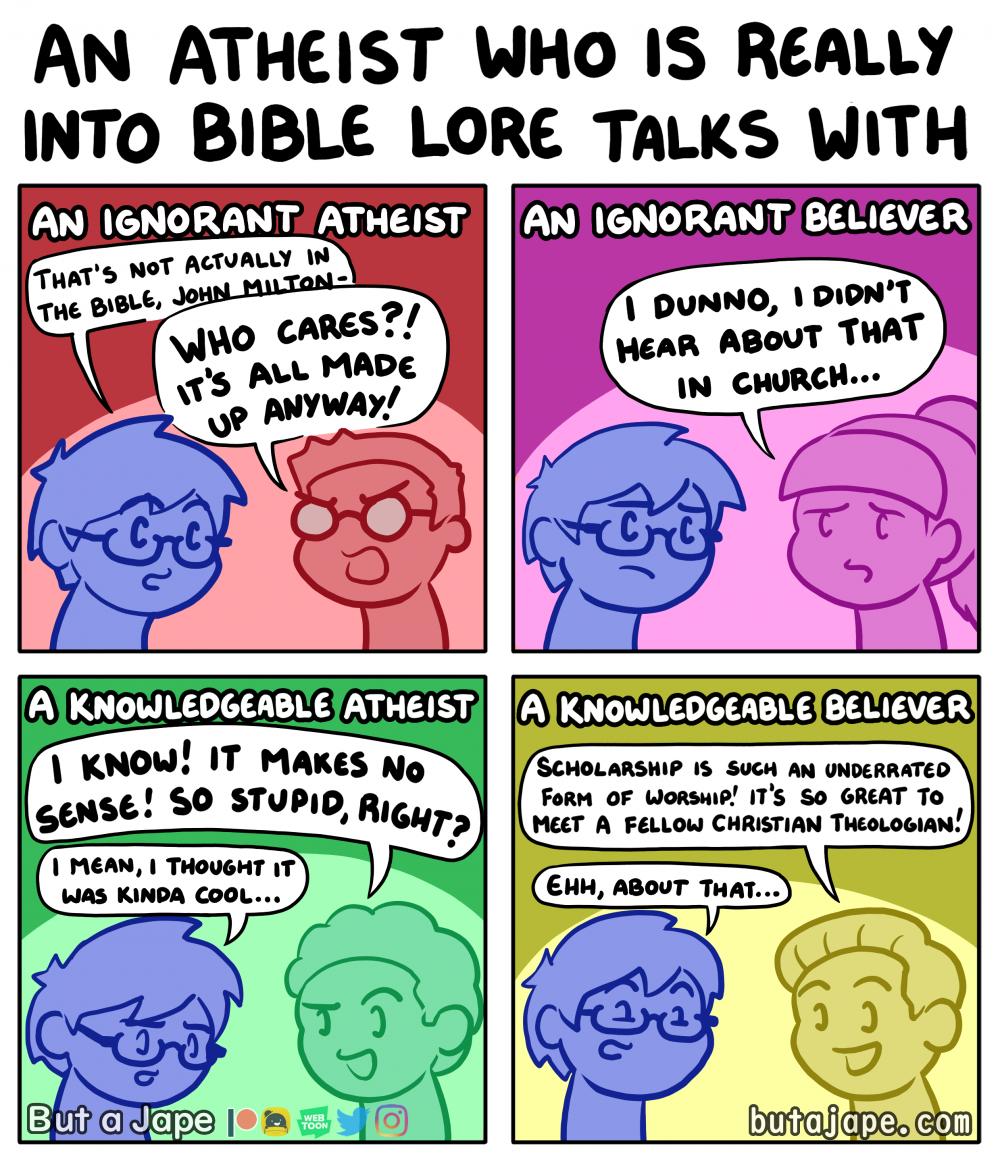 atheist bible nerd comic