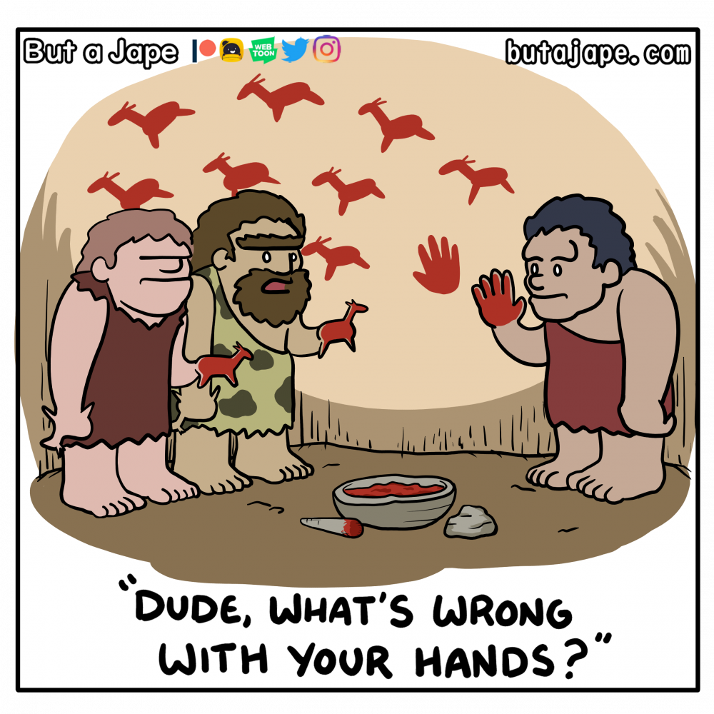 cave painting comic