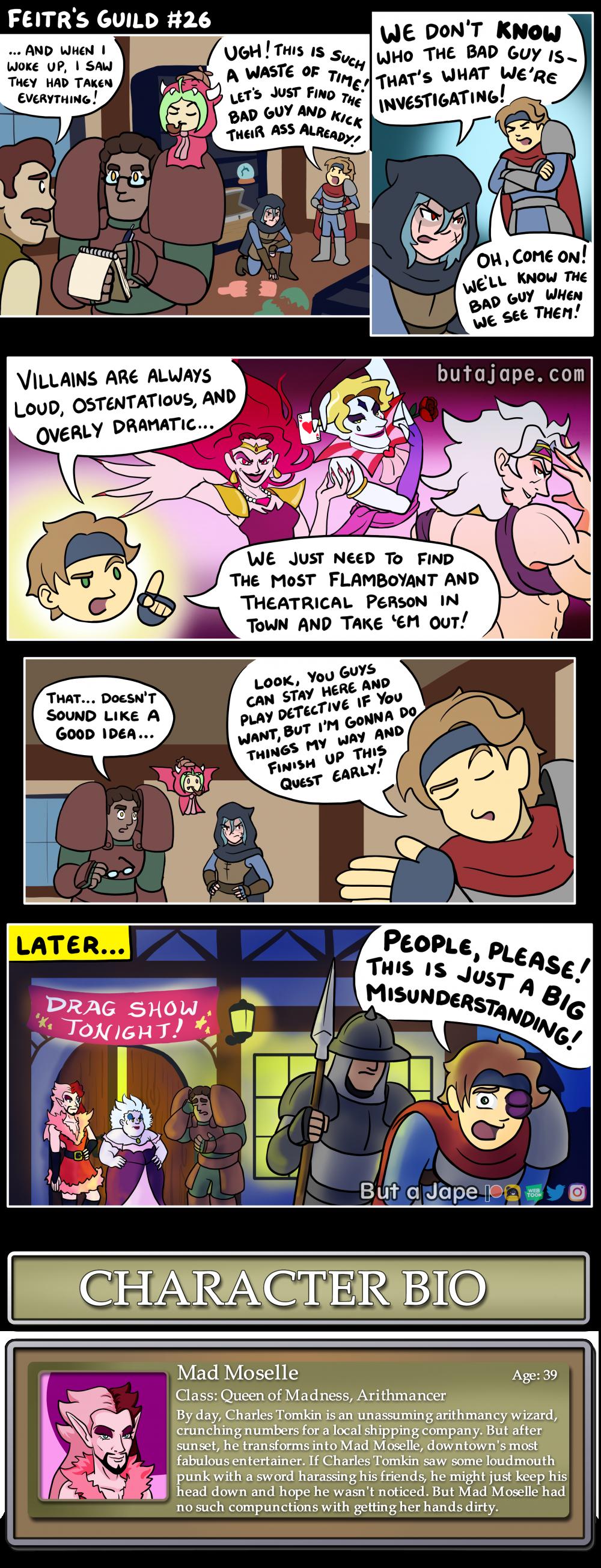 flamboyant villains comic