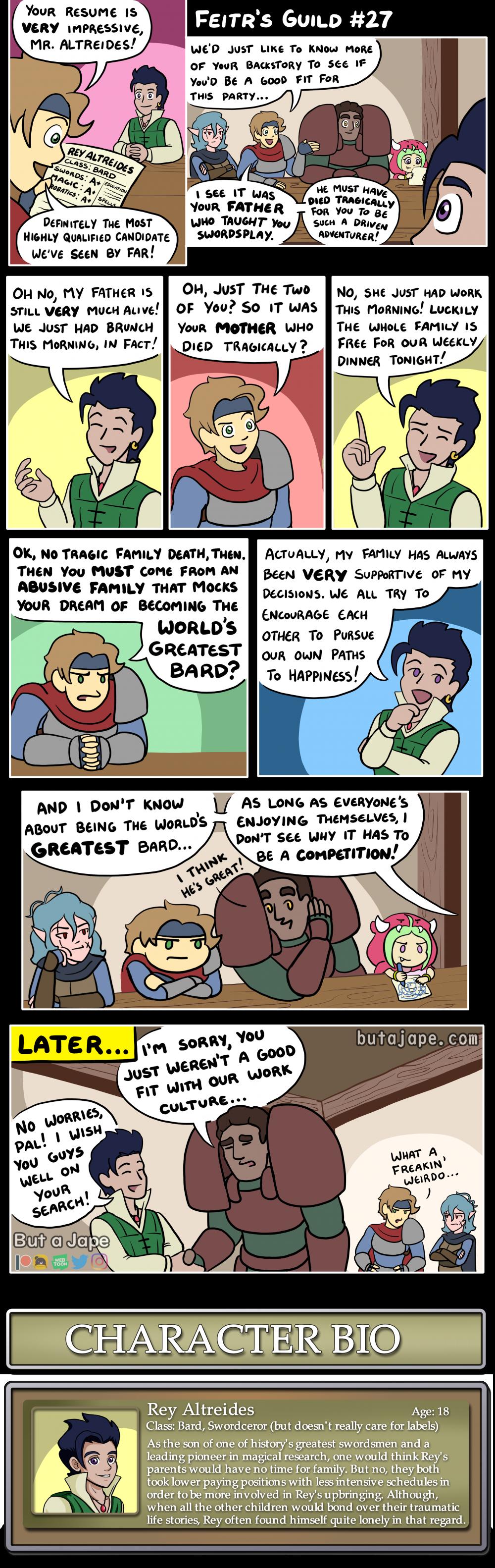 tragic backstory comic