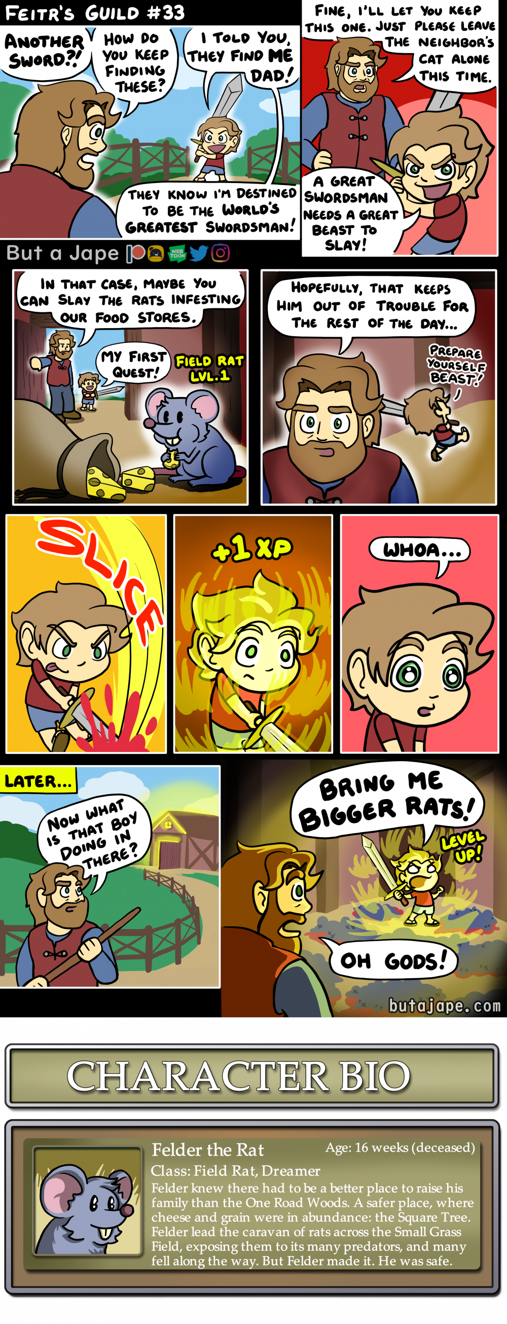feitrs first quest comic