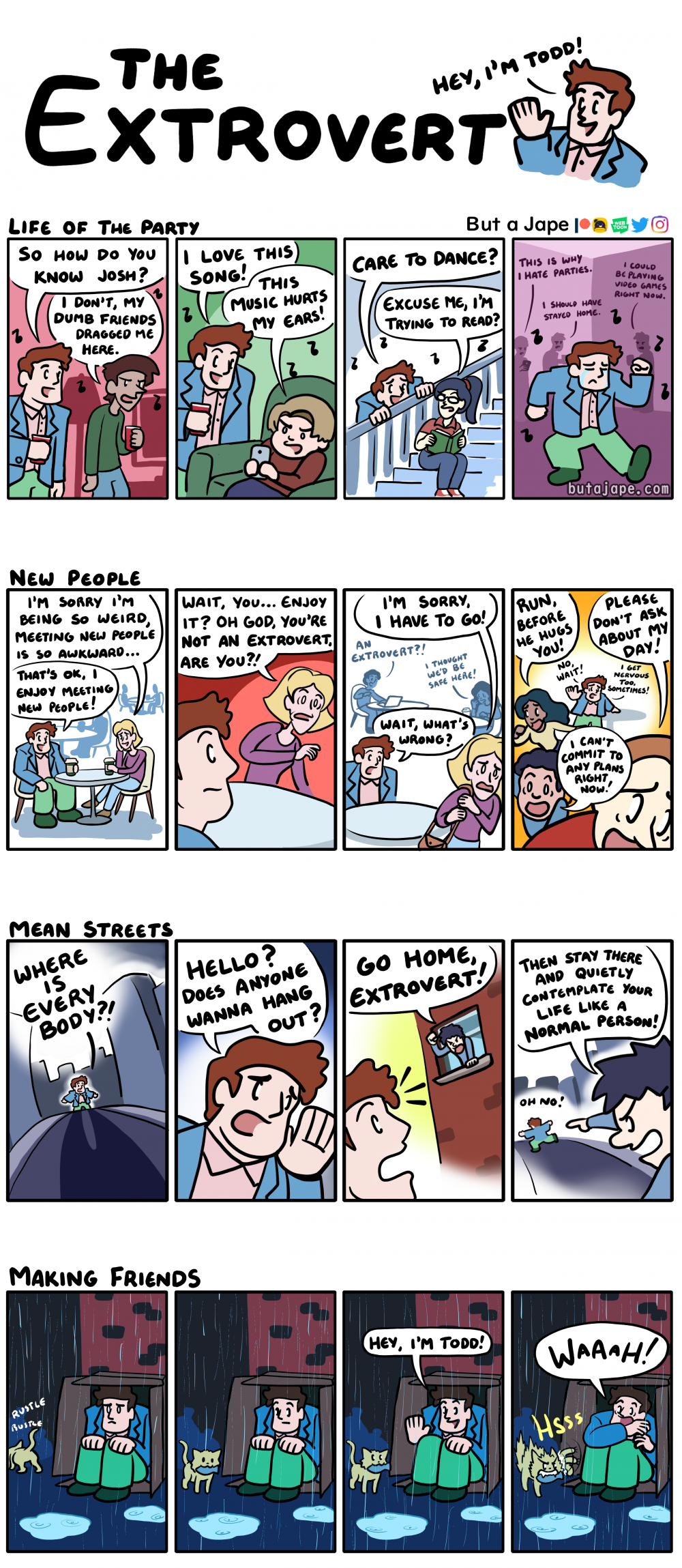 the extrovert comic