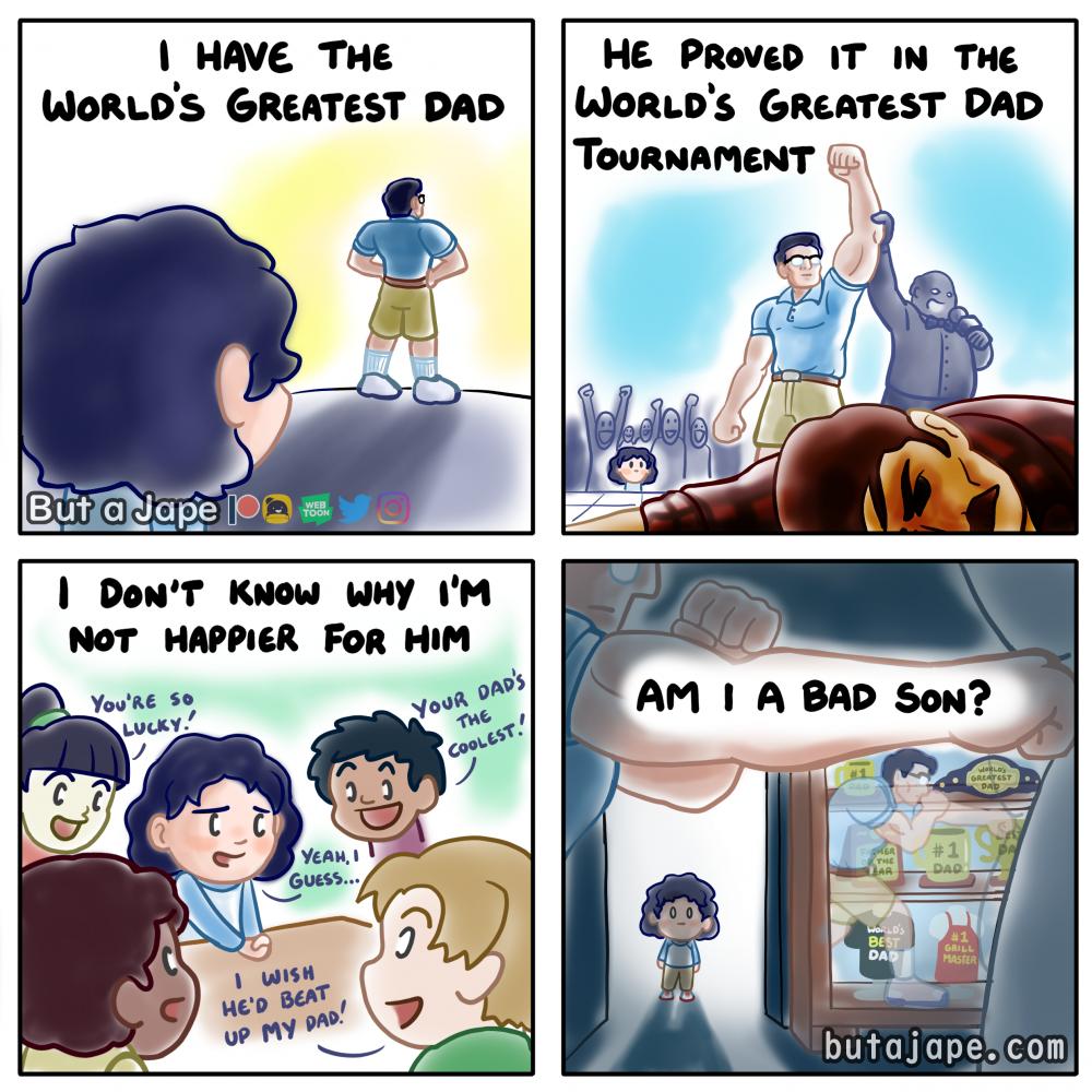 world's greatest dad comic